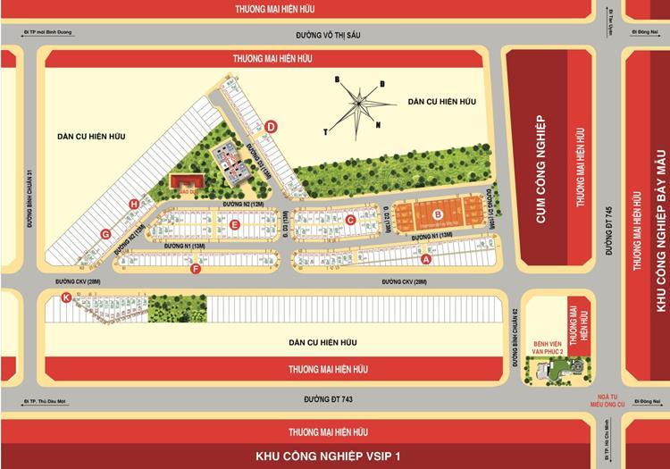 Mặt bằng chính thức dự án Casa Mall