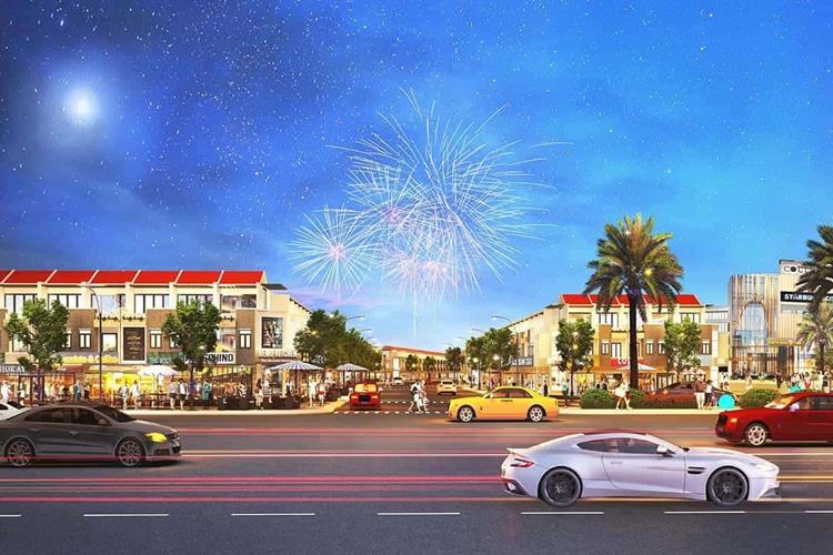 Phối cảnh các dãy nhà phố dự án Casa Mall