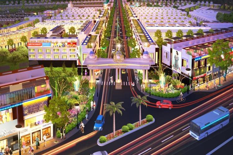 Quy hoạch nội khu sầm uất tại dự án Hana Garden Mall