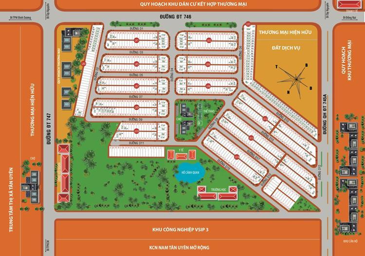 Mặt bằng phân lô dự án Khu đô thị Victory City
