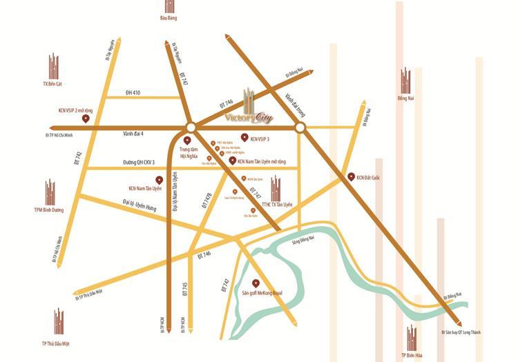 Vị trí Khu đô thị Victory City Bình Dương