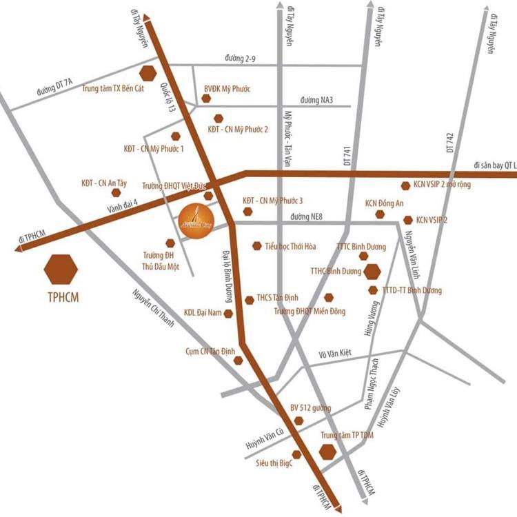 Vị trí dự ánBình Dương Avenue City