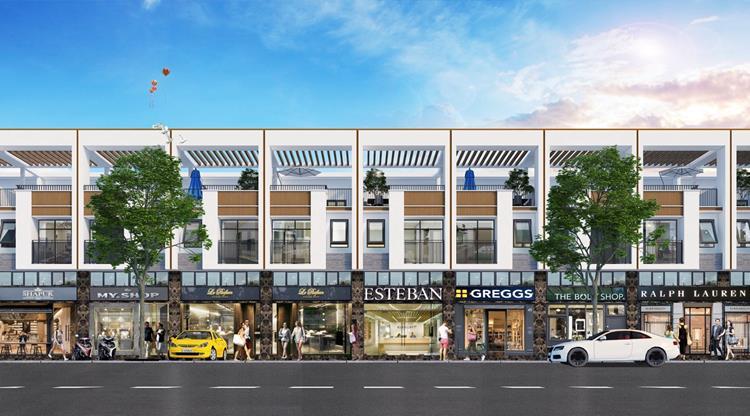 Phố thương mại tại dự án BenCat City Zone Bình Dương