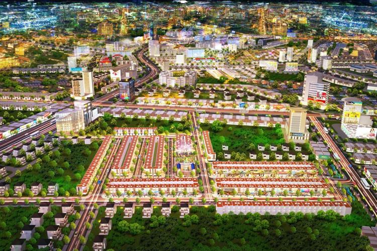 Mặt bằng tổng thể dự án Phố thương mại Lộc Phát
