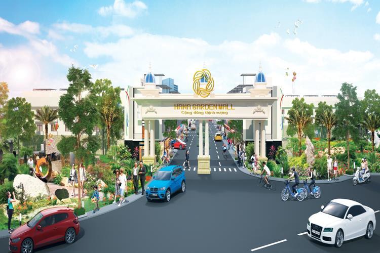 Hana Garden Mall với mức giá chỉ từ 680 triệu/ nền