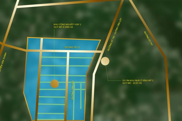 Vị trí dự án Hana Garden Mall Bình Dương