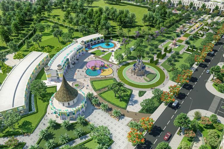 Mảng xanh chiếm đa số trong khuôn viên dự án