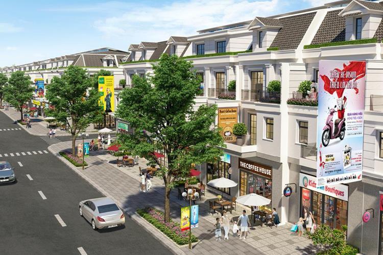 Đường nội khu rộng rãi cuả dự án Cát Tường Phú Hưng