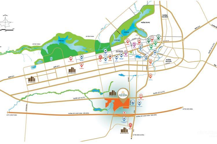 Vị trí của dự án Cát Tường Phú Hưng