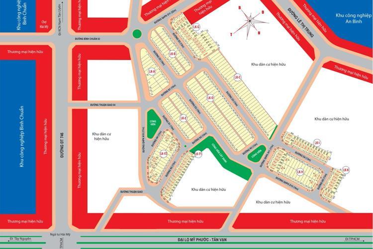Mặt bằng tổng thể dự án Hài Mỹ New City Thuận An