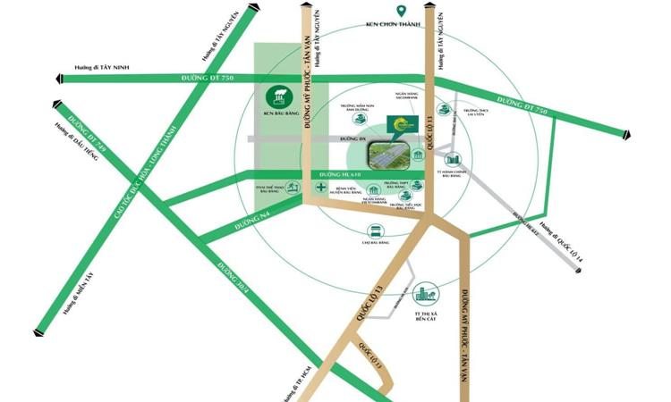 Vị trí dự án Thăng Long Central City