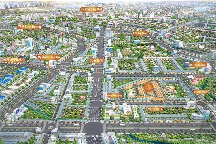 Phối cảnh Bình Dương Avenue City